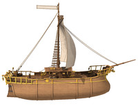 medieval pirate ship 3d model
