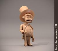 3d model stl monkey