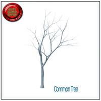 common tree stl printable 3d obj