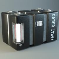 cargo box 3d max