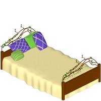 natural bed 3d model