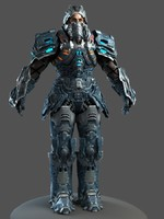 maya scifi man