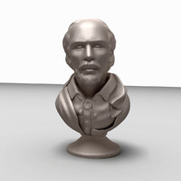 william shakespeare bust 3d model