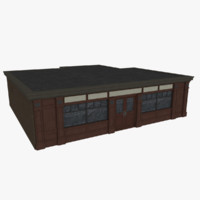 3d bar pub facade model