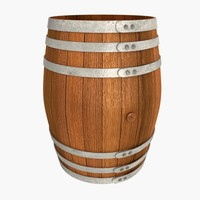 3d model wooden barrel wood