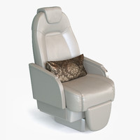 private jet seat 3d obj