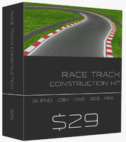 ready race track construction kit 3d model