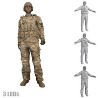 rigged soldier s 3d max