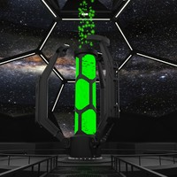 3d model of sci-fi interior