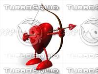 3d model heart archer