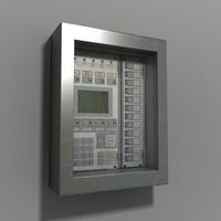 3ds max intruder alarm control