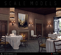 3d hotel scale model