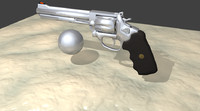 3d model 357 magnum chrome