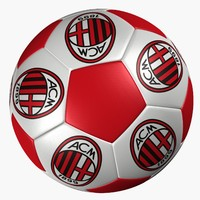 3d model soccer ball ac milan