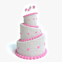 3d beautiful cake model
