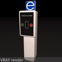 3d model electric vehicle car charging