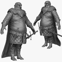 3d model sculpt heavy medieval man
