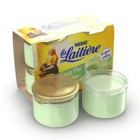3d model cream pistachio