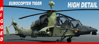 eurocopter tiger helicopter rigged max
