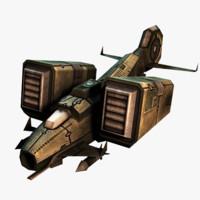 3d sci-fi jet fighter