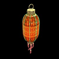 chinese lantern red 3d max