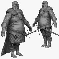 sculpt heavy medieval man 3d 3ds