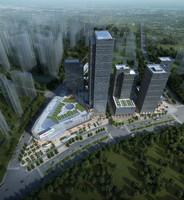 modular skyscraper office building 3d model
