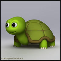3d model of cute turtle