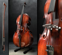 cello bow 3d obj