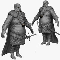maya sculpt heavy medieval man