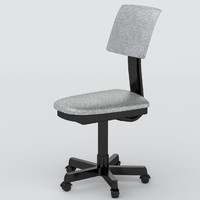 3d model office chair uv