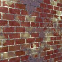 Red Worn Bricks 2
