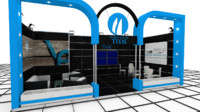 teos exhibition stand design 3d model