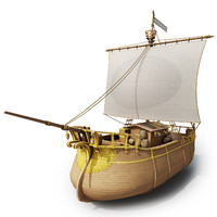 medieval pirate ship ready 3d max