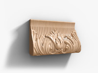 wooden decor 3d obj