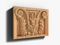 wooden decor 3d model