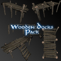 pack wooden dock 3ds