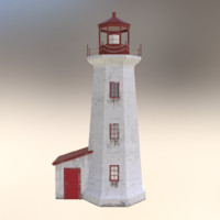 ready lighthouse 3d obj