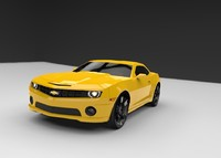 3d model of chevrolet camaro ss 2010