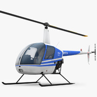 low-poly robinson r22 3d model