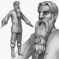 obj sculpt medieval peasant man