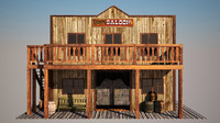 old west saloon 3d model