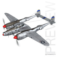 3d model lockheed lightning - jewboy