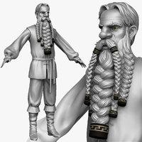 maya sculpt peasant man zbrush