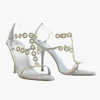 obj white sandals caovilla