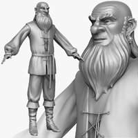 sculpt medieval peasant man 3d model