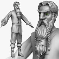 3d model sculpt medieval peasant man