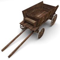 cart modeled 3d 3ds