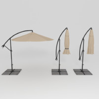 patio umbrella 3d 3ds