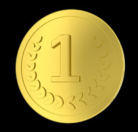 golden coin 3d obj